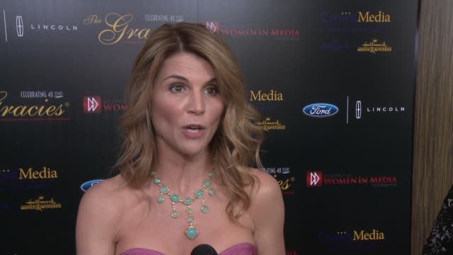 interview lori loughlin on the event how media has changed over the years at the 40th anniversary gracies awards in los angeles ca - lori loughlin stock videos & royalty-free footage
