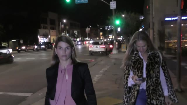 interview lori loughlin on the third season of 'fuller house' outside the eric buterbaugh gallery in los angeles at celebrity sightings in los... - lori loughlin stock videos & royalty-free footage