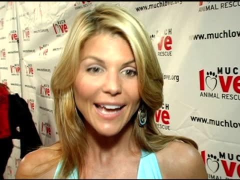 Lori Loughlin on tonight's event and on the benefits of having pets at the 4th Annual Much Love Animal Rescue Celebrity Comedy Benefit at the Laugh...