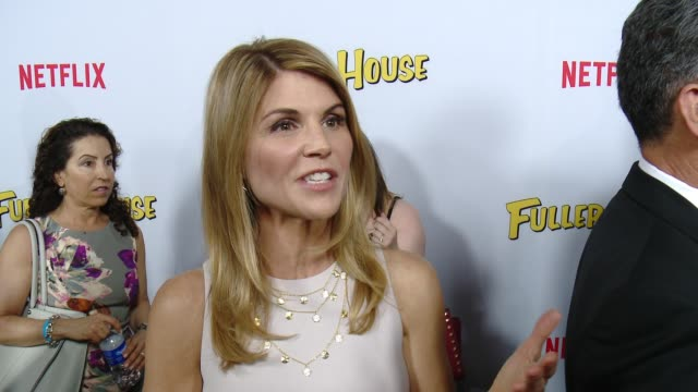 interview lori loughlin on what it's like to be part of this new series and what fans should expect at the netflix's fuller house premiere at pacific... - lori loughlin stock videos & royalty-free footage