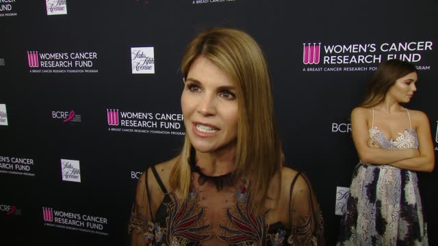 interview lori loughlin on why she wanted to celebrate wcrf's an unforgettable evening at the wcrf's an unforgettable evening presented by saks fifth... - lori loughlin stock videos & royalty-free footage