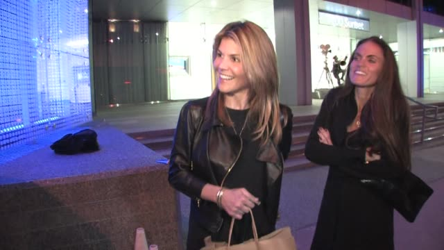 lori loughlin outside boa restaurant at the celebrity sightings in los angeles at los angeles ca - lori loughlin stock videos & royalty-free footage