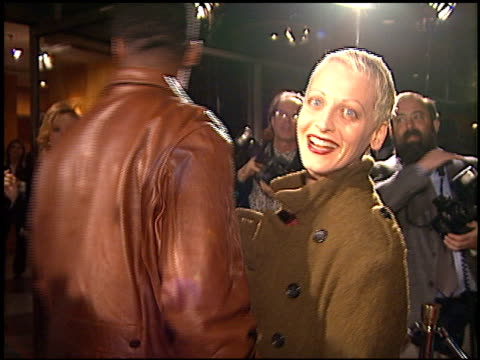 lori petty at the 'casino' premiere at academy theater in beverly hills california on november 16 1995 - anno 1995 video stock e b–roll