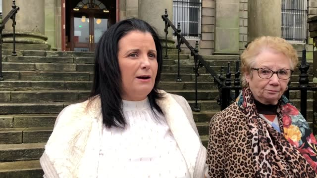 lorna brady the sister of a former ira prisoner reacts after his inquest where a coroner said he impulsively killed himself three minutes after he... - barracks stock videos & royalty-free footage
