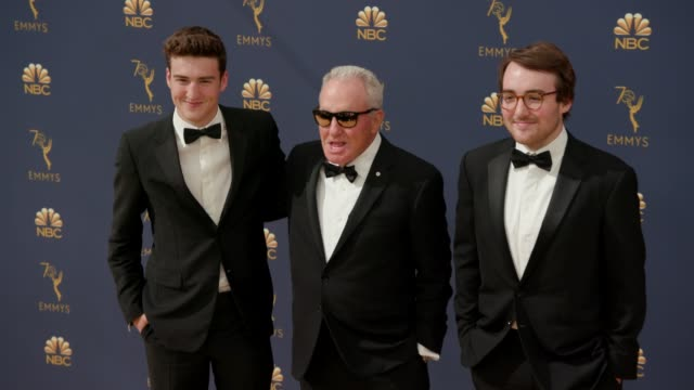 lorne michaels edward michaels and henry michaels at the 70th emmy awards arrivals at microsoft theater on september 17 2018 in los angeles california - 70th annual primetime emmy awards stock videos and b-roll footage