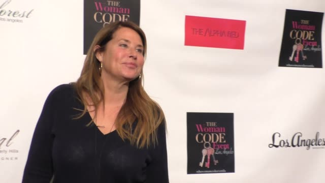 lorraine bracco at an evening with author of 'the woman code' sophia a nelson hosted by angie harmon at city club los angeles at celebrity sightings... - angie harmon stock videos & royalty-free footage