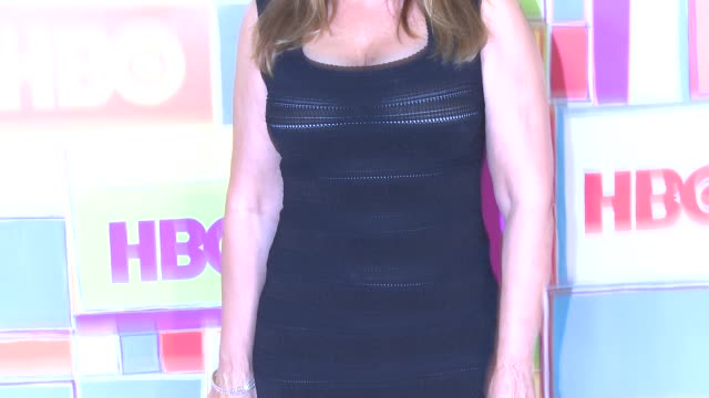 vídeos y material grabado en eventos de stock de lorraine bracco at hbo's official 2014 emmy after party at the plaza at the pacific design center on august 25 2014 in los angeles california - premios emmy