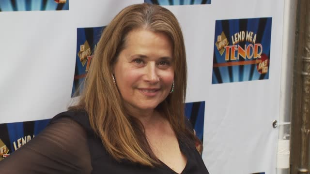 lorraine bracco at the opening of 'lend me a tenor' arrivals at new york ny - lend me a tenor stock-videos und b-roll-filmmaterial