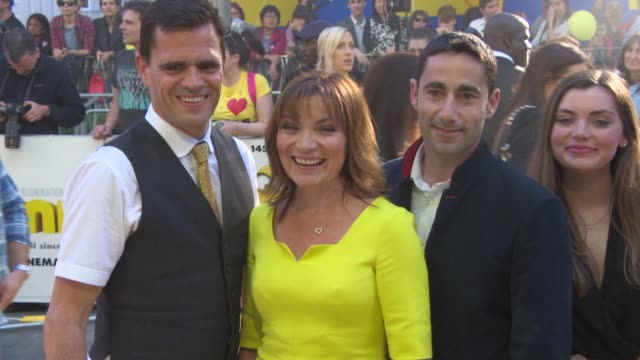 lorraine kelly at 'minions' world premiere at odeon leicester square on june 11, 2015 in london, england. - lorraine kelly stock videos & royalty-free footage