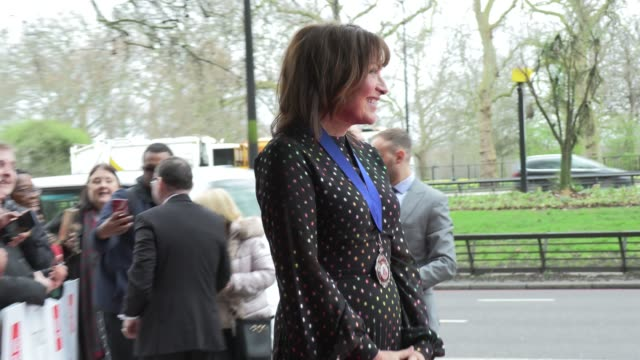 lorraine kelly at the tric awards at grosvenor house on march 10, 2020 in london, england. - lorraine kelly stock videos & royalty-free footage