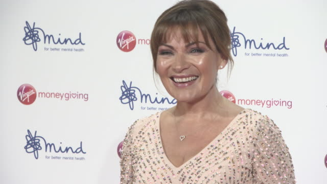 lorraine kelly at virgin money giving mind media awards at odeon leicester square on november 13, 2017 in london, england. - lorraine kelly stock videos & royalty-free footage