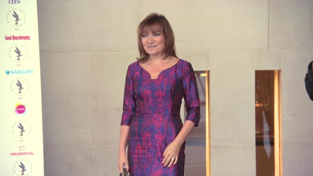 lorraine kelly at women of the year lunch and awards at intercontinental park lane hotel on october 13, 2014 in london, england. - lorraine kelly stock videos & royalty-free footage