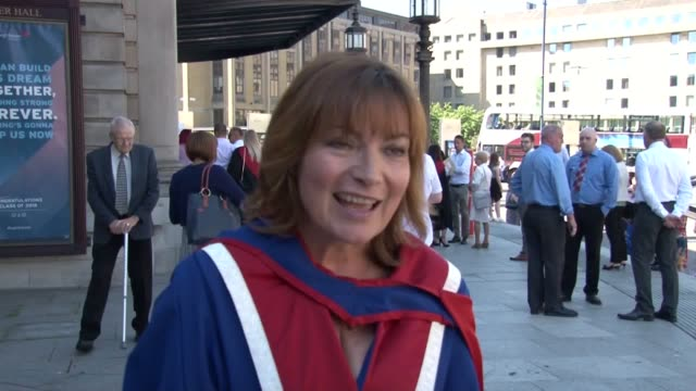 "lorraine kelly has said today's young generation are being relied upon to ""change things and make things better"". the tv host was speaking after... - lorraine kelly stock videos & royalty-free footage"