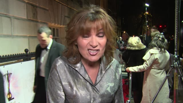 lorraine kelly on the millies, christmas plans and upcoming work plans at the sun military awards on december 13, 2017 in london, england. - lorraine kelly stock videos & royalty-free footage