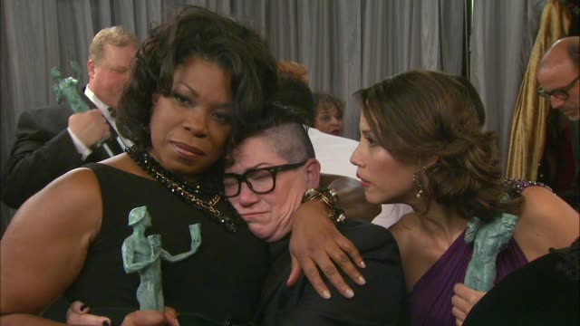 lorraine toussaint and lea delaria at the 21st annual screen actors guild awards trophy room at the shrine auditorium on january 25 2015 in los... - shrine auditorium stock videos and b-roll footage