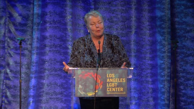 stockvideo's en b-roll-footage met speech lorri l jean at the los angeles lgbt center's 47th anniversary gala vanguard awards at pacific design center on september 24 2016 in west... - anniversary gala vanguard awards