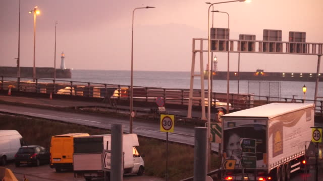 lorries at the port of dover - harbour stock videos & royalty-free footage