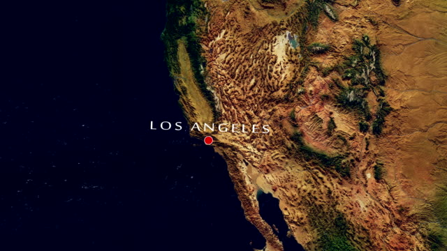 los angeles 4k zoom in - hollywood california stock videos and b-roll footage