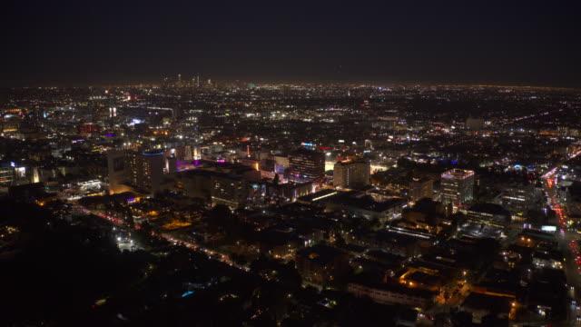 vidéos et rushes de los angeles aerial time lapse - hollywood californie
