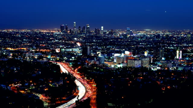 Los Angeles and Hollywood skyline