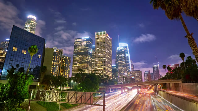 Los Angeles at night. California