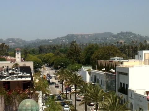 Los Angeles: Beverly Hills und Rodeo Drive, Blick nach Osten