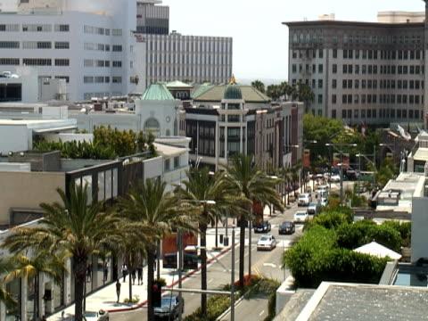 Los Angeles: Beverly Hills und Rodeo Drive, Blick nach Westen
