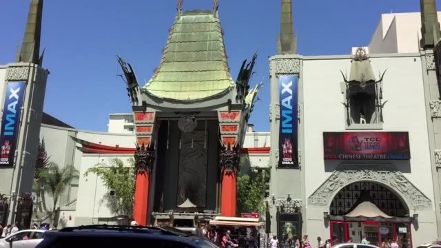 "los angeles, ca the live action disney remake of ""jungle book"" made 103.6 million on its opening weekend. dual interview with jungle book movie... - tcl chinese theatre stock videos & royalty-free footage"