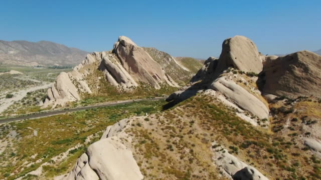 ktla los angeles ca us aerial views of mormon rocks interpretive trail a 1 mile loop trail located near san bernardino on thursday june 20 2019 - マイル点の映像素材/bロール