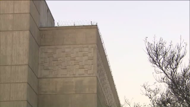 ktla – los angeles ca us barbed wire on prison building exterior on wednesday july 15 2020 - wall building feature stock videos & royalty-free footage