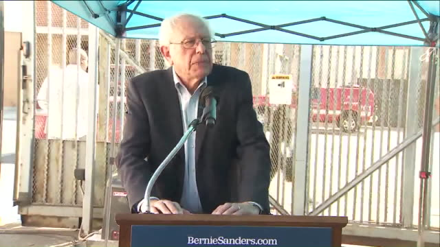 vídeos y material grabado en eventos de stock de ktla los angeles ca us bernie sanders press conference speaks on homelessness in the us on tuesday august 6 2019 - injusticia