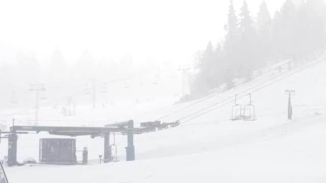 los angeles, ca, u.s. - big bear mountain ski lodge and ski lift on saturday, november 7, 2020. - ski lodge stock videos & royalty-free footage