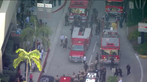los angeles, ca, u.s., - city of west hollywood is teaming up with local law enforcement agencies and fire departments to honor nurses at... - the grove los angeles stock videos & royalty-free footage