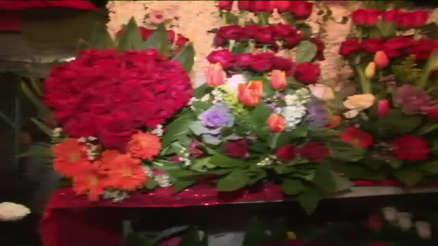 ktla los angeles ca us close ups of flowers in flower district during valentine's day on friday february 14 2020 - flower shop stock videos & royalty-free footage