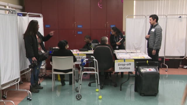 ktla los angeles ca us la county registrarrecorder's office teamed up with altamed to bring the voting to senior citizens at their facility in... - democracy stock videos & royalty-free footage
