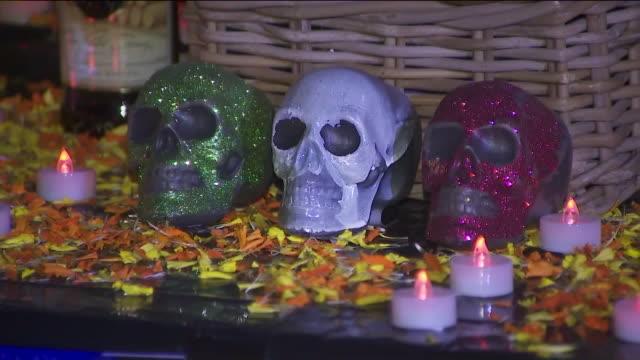 ktla los angeles ca us decorations for día de los muertos in grand park on saturday october 26 2019 - día stock videos & royalty-free footage
