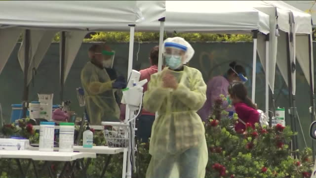 ktla los angeles ca us drivethru coronavirus testing site at altamed clinic altamed will provide drivethrough assessments for those who have cold or... - california stock videos & royalty-free footage