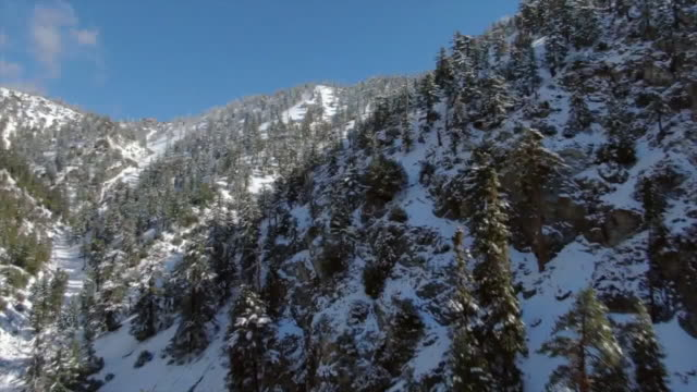 los angeles, ca, u.s. - drone aerials of mt baldy covered with snow on sunny day on friday, november 22, 2019. - landscape scenery stock videos & royalty-free footage
