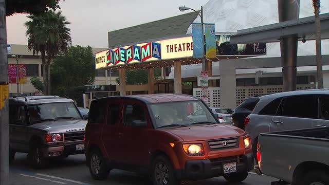 los angeles, ca, u.s. - exterior and interior of cinerama dome and arclight theater in hollywood. on tuesday, april 13, 2021. - cinerama dome hollywood bildbanksvideor och videomaterial från bakom kulisserna