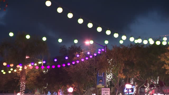 los angeles, ca, u.s. - illuminated streets of west hollywood at night, on monday, july 26, 2021. - west hollywood stock videos & royalty-free footage