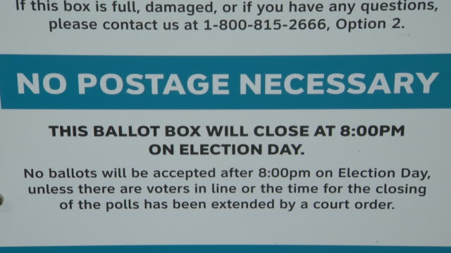 ktla los angeles ca us information sign on ballot box for early voting by mail in the 2020 us presidential election on monday october 12 2020 - information sign stock videos & royalty-free footage