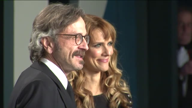 ktla los angeles ca us marc maron and lynn shelton attend the 2020 vanity fair oscar party hosted by radhika jones at wallis annenberg center for the... - oscar party stock videos & royalty-free footage
