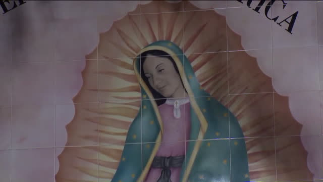 ktla los angeles ca us midnight mass during fest of our lady of guadalupe at cathedral of our lady of the angels on thursday december 12 2019 - female likeness stock videos & royalty-free footage
