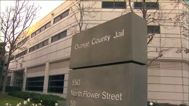 los angeles, ca, u.s. - orange county central men's jail building exteriors on wednesday, july 15, 2020. - wall building feature stock videos & royalty-free footage