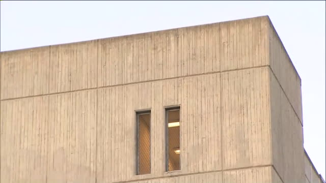 los angeles, ca, u.s. - orange county central men's jail windows close-up on wednesday, july 15, 2020. - wall building feature stock videos & royalty-free footage