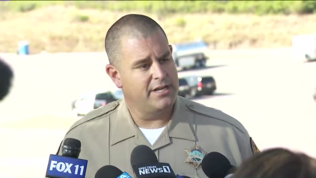 los angeles, ca, u.s. - sergeant from ventura county sheriff's department speaks during a press conference at lake piru, where actress naya rivera... - sergeant stock videos & royalty-free footage
