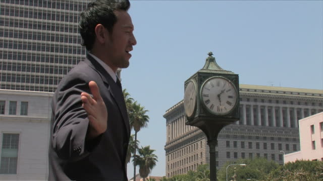 Los Angeles, California, USAOne business man is talking on the business