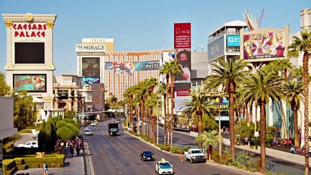 los angeles. casino. hotel. palm tree. - boulevard stock videos & royalty-free footage