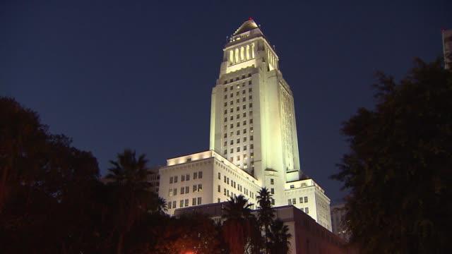 KTLA Los Angeles City Hall at Night