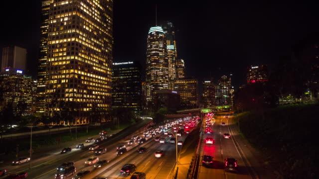 Los Angeles cityscape at night, CA